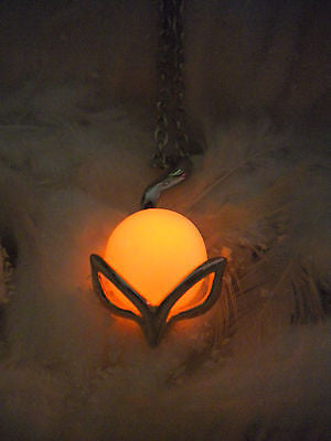 Fox Amulet Necklace - Glow in the Dark Jewelry - Animal Totem - Soul Shards
