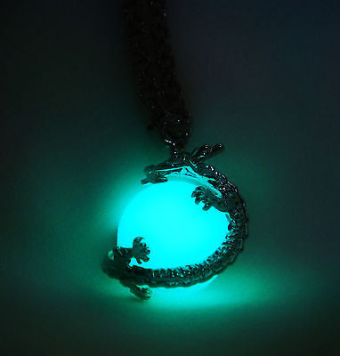 Dragon Wrap Glow in the Dark Ball Sphere Orb Pendant - Dragon Ball - Glowing Chinese Dragon - Soul Shards