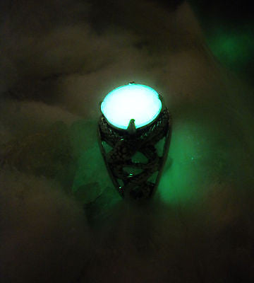 Celtic Snake Serpent Knot Ring - Glow in the Dark Jewelry - Animal Amulet - Soul Shards