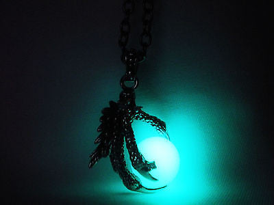 Dragon Claw Glow in the Dark Stainless Steel Pendant - Dragon Themed Jewelry - Dragon Age - Soul Shards