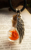 Phoenix Down Potion - Fantasy Necklace - Phoenix Feathers - Restore Life Resurrect Potion - Soul Shards