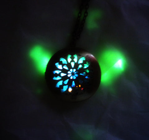 Glow Galaxy Map Celtic Locket - Antique Brass - Mass Effect Inspired - Soul Shards