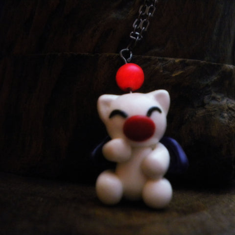 Moogle Glowing Pom Pom Necklace - Limited Edition - Glow in the Dark Final Fantasy Themed Jewelry - Soul Shards