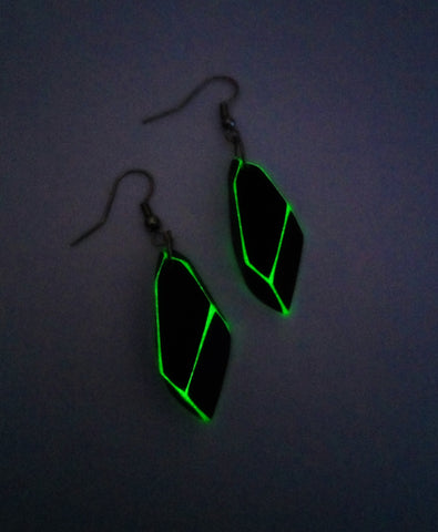 Remnant Tech Earrings – Glow in the dark Andromeda Earrings – Futuristic Jewelry – Alien Tech - Soul Shards