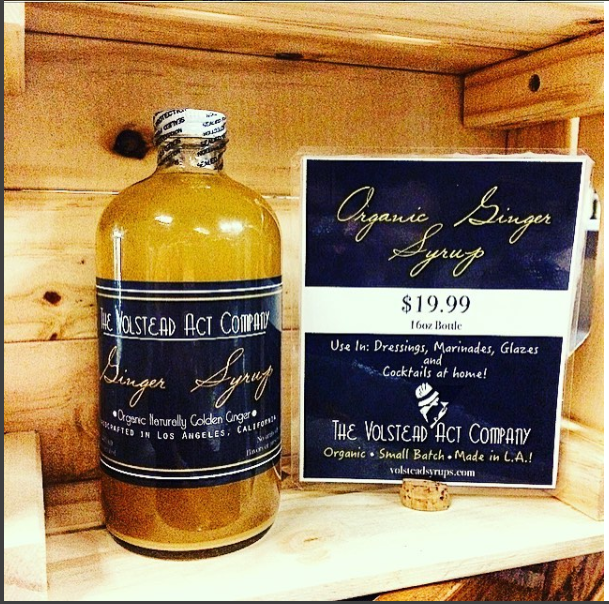 Glowing Juices Echo Park - Buy Volstead Act Co Ginger Syrup at the register!