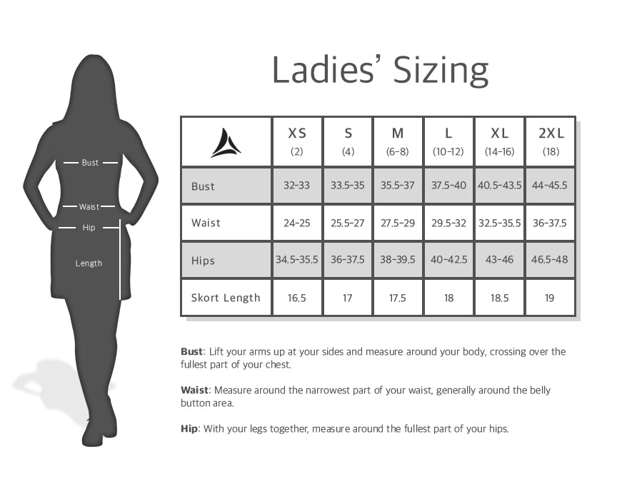 Ladies' Sizing Chart