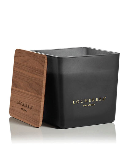 Locherber Black Mat Candle Bourbon Vanilla