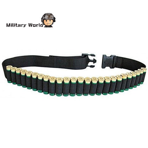 New Arrival Tactical Military 25 Round Shell Bullet Ammo Carrier Waist Belt Airsoft Hunting 600D Nylon Shotgun Bandolier Sling - Hespirides Gifts - 1