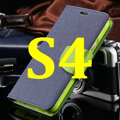 S4/S5 Luxury PU Leather Case for Samsung Galaxy S5 SV I9600 Wallet Holster Phone Back Cover Bag for Samsung Galaxy S4 SIV I9500 - Hespirides Gifts - 10