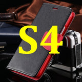 S4/S5 Luxury PU Leather Case for Samsung Galaxy S5 SV I9600 Wallet Holster Phone Back Cover Bag for Samsung Galaxy S4 SIV I9500 - Hespirides Gifts - 2