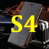 S4/S5 Luxury PU Leather Case for Samsung Galaxy S5 SV I9600 Wallet Holster Phone Back Cover Bag for Samsung Galaxy S4 SIV I9500 - Hespirides Gifts - 19