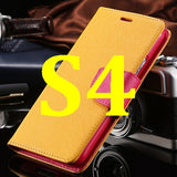 S4/S5 Luxury PU Leather Case for Samsung Galaxy S5 SV I9600 Wallet Holster Phone Back Cover Bag for Samsung Galaxy S4 SIV I9500 - Hespirides Gifts - 17