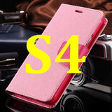 S4/S5 Luxury PU Leather Case for Samsung Galaxy S5 SV I9600 Wallet Holster Phone Back Cover Bag for Samsung Galaxy S4 SIV I9500 - Hespirides Gifts - 23