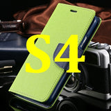 S4/S5 Luxury PU Leather Case for Samsung Galaxy S5 SV I9600 Wallet Holster Phone Back Cover Bag for Samsung Galaxy S4 SIV I9500 - Hespirides Gifts - 12