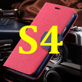 S4/S5 Luxury PU Leather Case for Samsung Galaxy S5 SV I9600 Wallet Holster Phone Back Cover Bag for Samsung Galaxy S4 SIV I9500 - Hespirides Gifts - 20
