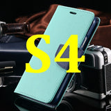 S4/S5 Luxury PU Leather Case for Samsung Galaxy S5 SV I9600 Wallet Holster Phone Back Cover Bag for Samsung Galaxy S4 SIV I9500 - Hespirides Gifts - 4