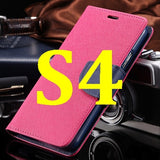 S4/S5 Luxury PU Leather Case for Samsung Galaxy S5 SV I9600 Wallet Holster Phone Back Cover Bag for Samsung Galaxy S4 SIV I9500 - Hespirides Gifts - 5