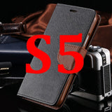 S4/S5 Luxury PU Leather Case for Samsung Galaxy S5 SV I9600 Wallet Holster Phone Back Cover Bag for Samsung Galaxy S4 SIV I9500 - Hespirides Gifts - 8
