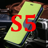 S4/S5 Luxury PU Leather Case for Samsung Galaxy S5 SV I9600 Wallet Holster Phone Back Cover Bag for Samsung Galaxy S4 SIV I9500 - Hespirides Gifts - 3