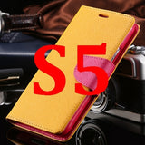 S4/S5 Luxury PU Leather Case for Samsung Galaxy S5 SV I9600 Wallet Holster Phone Back Cover Bag for Samsung Galaxy S4 SIV I9500 - Hespirides Gifts - 11