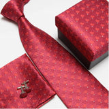 mens tie fashion men's accessories cheap ties for men tie and handkerchief set cufflinks gift box - Hespirides Gifts - 17