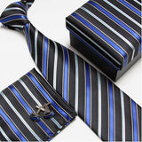 mens tie fashion men's accessories cheap ties for men tie and handkerchief set cufflinks gift box - Hespirides Gifts - 11