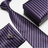 mens tie fashion men's accessories cheap ties for men tie and handkerchief set cufflinks gift box - Hespirides Gifts - 20