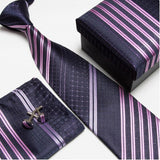 mens tie fashion men's accessories cheap ties for men tie and handkerchief set cufflinks gift box - Hespirides Gifts - 9