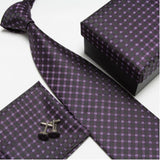 mens tie fashion men's accessories cheap ties for men tie and handkerchief set cufflinks gift box - Hespirides Gifts - 12