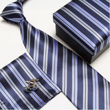 mens tie fashion men's accessories cheap ties for men tie and handkerchief set cufflinks gift box - Hespirides Gifts - 13