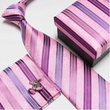 mens tie fashion men's accessories cheap ties for men tie and handkerchief set cufflinks gift box - Hespirides Gifts - 4