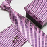mens tie fashion men's accessories cheap ties for men tie and handkerchief set cufflinks gift box - Hespirides Gifts - 19