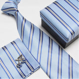 mens tie fashion men's accessories cheap ties for men tie and handkerchief set cufflinks gift box - Hespirides Gifts - 8