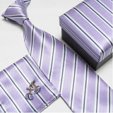mens tie fashion men's accessories cheap ties for men tie and handkerchief set cufflinks gift box - Hespirides Gifts - 5