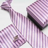 mens tie fashion men's accessories cheap ties for men tie and handkerchief set cufflinks gift box - Hespirides Gifts - 18