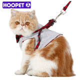 HOOPET Samll Cat Dog Walking Fabric Harness Jacket+Leash Set  2 Size Fashion Design High Quality British Style Good Ventilation