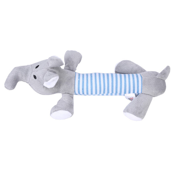 New Dog Toys Pet Puppy Chew Squeaker Squeaky Plush Sound Duck Pig & Elephant Toys 3 Designs PING - Hespirides Gifts - 3