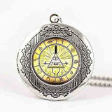 Steampunk Drama Gravity Falls Mysteries BILL CIPHER WHEEL Pendant Necklace glass doctor who 1pcs/lot Glass mens vintage earring - Hespirides Gifts - 3