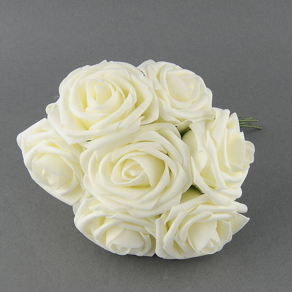 Pretty Charming 10 Heads Lovely Cute Artificial Rose Flower Wedding Bridal Bouquet Home Decor 2 Color - Hespirides Gifts - 2