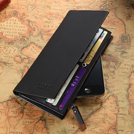 High quality men's Wallets Wholesale First class PU leather purse long leather wallets , - Hespirides Gifts - 2