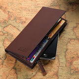 High quality men's Wallets Wholesale First class PU leather purse long leather wallets , - Hespirides Gifts - 3