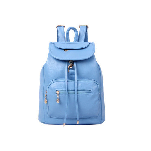 fashion lovely black PU women leather backpack school bag female travel bags faux leather vintage daily backpacks casual - Hespirides Gifts - 4