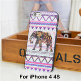 Elephant Print Animal Phone Case,Aztec Phone Case With Elephant Print,Cheap For Iphone 4 5 Case Cover - Hespirides Gifts - 18