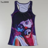 Summer New Women Vests 3D Audrey Hepburn Print Fitness Camisole Casual Galaxy Tank Tops Woman Shirts Brand Tees - Hespirides Gifts - 9