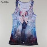 Summer New Women Vests 3D Audrey Hepburn Print Fitness Camisole Casual Galaxy Tank Tops Woman Shirts Brand Tees - Hespirides Gifts - 8