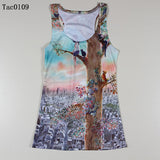 Summer New Women Vests 3D Audrey Hepburn Print Fitness Camisole Casual Galaxy Tank Tops Woman Shirts Brand Tees - Hespirides Gifts - 2