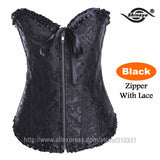 Shineye Sexy Corset Latex Waist Training Corsets Shapewear Bustier Gothic Steampunk Corselet Cincher Espartilho LaceUp Plus Size - Hespirides Gifts - 12