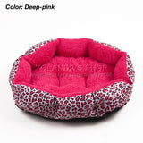 Hot sales! NEW! Colorful Leopard print Pet Cat and Dog bed Pink, Blue, Yellow, Deep pink, SIZE M,L - Hespirides Gifts - 5