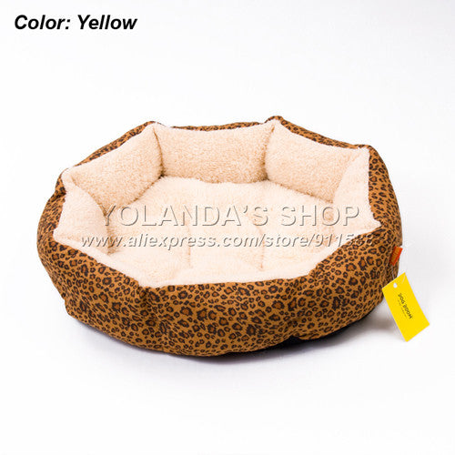 Hot sales! NEW! Colorful Leopard print Pet Cat and Dog bed Pink, Blue, Yellow, Deep pink, SIZE M,L - Hespirides Gifts - 3
