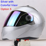 New Arrivals Best Sales Safe Flip Up Motorcycle Helmet With Inner Sun Visor Everybody Affordable Double Lens Motorbike Helmet - Hespirides Gifts - 18